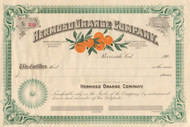Hermoso Orange Company stock certificate 1900
