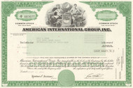 American International Group (AIG) stock certificate 2010