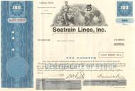 Seatrain Lines Inc. stock certificate - 1970's