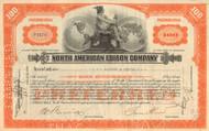 North American Edison Company stock certificate 1930's