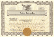Jackson Museum stock certificate 1989 - hand signed by Katherine and Jermaine Jackson