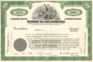 Sunray DX Oil Company stock certificate 1960's