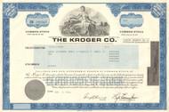 The Kroger Co. stock certificate 1986