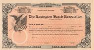 Lexington Beach Association stock certificate circa 1909 (Michigan)