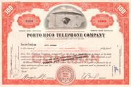 Porto Rico Telephone Company stock certificate 1960 (Puerto Rico Telephone Company)