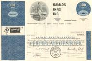 Ramada Inns stock certificate 1974