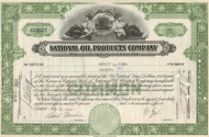 National Oil Products stock certificate 1940's