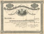 The Tarentum Light and Heat Company stock certificate circa 1883