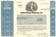 United Energy Resources Inc. stock certificate 1978