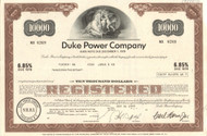 Duke Power Company $10,000 bond certificate 1970's