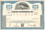 Playboy Enterprises Inc  stock certificate specimen - blue