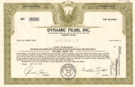 Dynamic Films Inc. stock certificate 1960 - olive