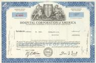 Hospital Corporation of America stock certificate 1969