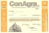 ConAgra Inc stock certificate 1980's  - orange