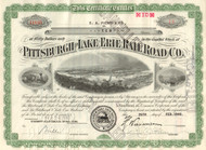 Pittsburgh and Lake Erie Railroad stock certificate 1940