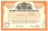 Haverty Furniture Company  stock certificate 1999