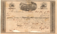 Baltimore & Ohio Rail Road stock certificate 1840