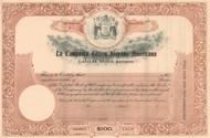 La Compania Edison Hispano Americana stock certificate circa 1907