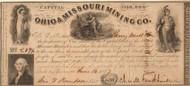 Ohio & Missouri Mining Co. stock certificate 1847