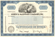 Marsh and McLennan stock certificate 1980's (financial services)