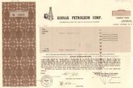 Kodiak Petroleum Corp. stock certificate 1982 (oil company)