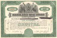 International Business Machines Corporation stock certificate 1950's (IBM - Big Blue)