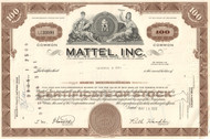 Mattel Inc stock certificate 1970 (toys and games)