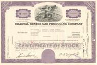 Coastal States Gas Corporation stock certificate - purple