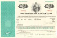 Georgia-Pacific Corporation bond certificate 1970's - aqua