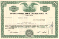 International Book Distributors stock certificate 1960's