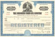 Brooklyn Union Gas bond certificate 1970's - dark blue