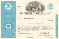 American Standard Inc. stock certificate 1960's