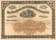 Southern Art Exhibition Company stock certificate 1885
