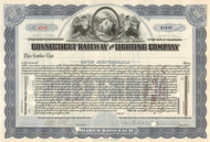 Connecticut Railway and Lighting Company stock certificate circa 1911