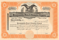 Passamaquoddy Ferry & Navigation Company stock certificate circa 1918