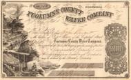 Tuolumne County Water Company stock certificate 1862(Columbia California)