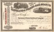Cleveland and Toledo Rail-Road Co. stock certificate 1860's (Ohio)