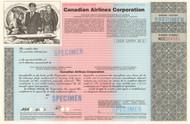 Canadian Airlines Corporation stock certificate - specimen