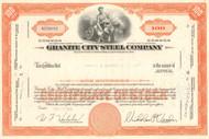 Granite City Steel Company stock certificate 1960's