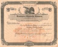 Kensington Steamship Company stock certificate circa 1907 (New York)
