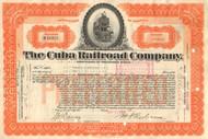 Cuba Railroad Company stock certificate 1934  (pre-Castro)