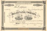 Delta Canal Company stock certificate circa 1893  (Florida)