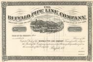 Buffalo Pipe Line Company stock certificate circa 1877  (New York)