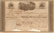 Baltimore & Ohio Rail Road stock certificate 1843
