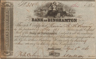 Bank of Binghamton stock certificate 1861 (Doubleday family)