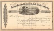 Havana, Rantoul & Eastern Rail Road Company stock certificate c1873 (Illinois)