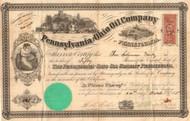 Pennsylvania and Ohio Oil Company stock certificate 1865  (Pennsylvania)