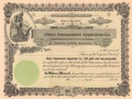Shore Amusement Apparatus Company stock certificate circa 1906  (New York)