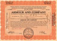 Armour Company temporary stock certificate 1934 (Illinois)