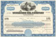 Standard Oil Company bond certificate 1970's (Indiana) - blue $10,000